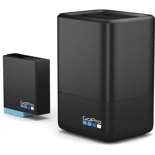 Carregador de bateria dupla GoPro de íon de lítio com 1 x bateria para HERO8 / 7/6 preto