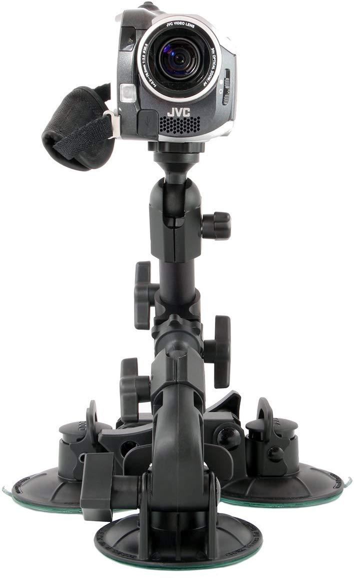 Delkin DDMNT-TRIPLE Fat Gecko Three-Arm Suction Mount (Black)