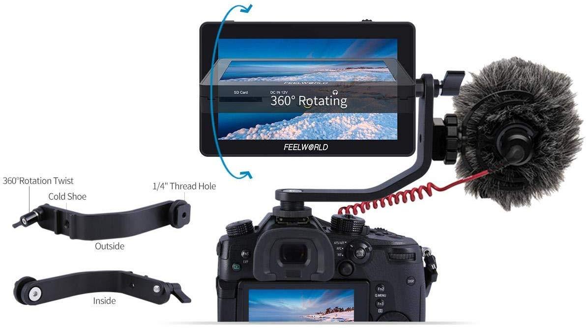 FEELWORLD F6 Plus 5.5 Polegadas 1920x1080 Suppor 4K 3D LUT Tela sensível ao toque