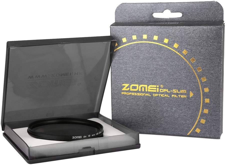 Filtro Lente ZOMEi 67mm Ultra Slim ND2-ND400 Fader Variable ND