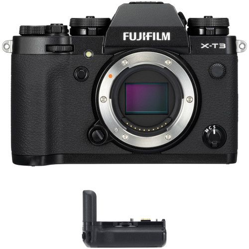 Fujifilm X-T3 Mirrorless Digital Camera - Black + Fujifilm VG-XT3 Vertical Grip