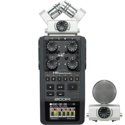 Gravador de Voz Zoom H6 c/2GBMEM/Intercamabiavemi
