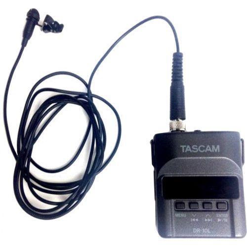 Gravador Tascam DR-10L Digital Audio with Lavalier Mic (Black)