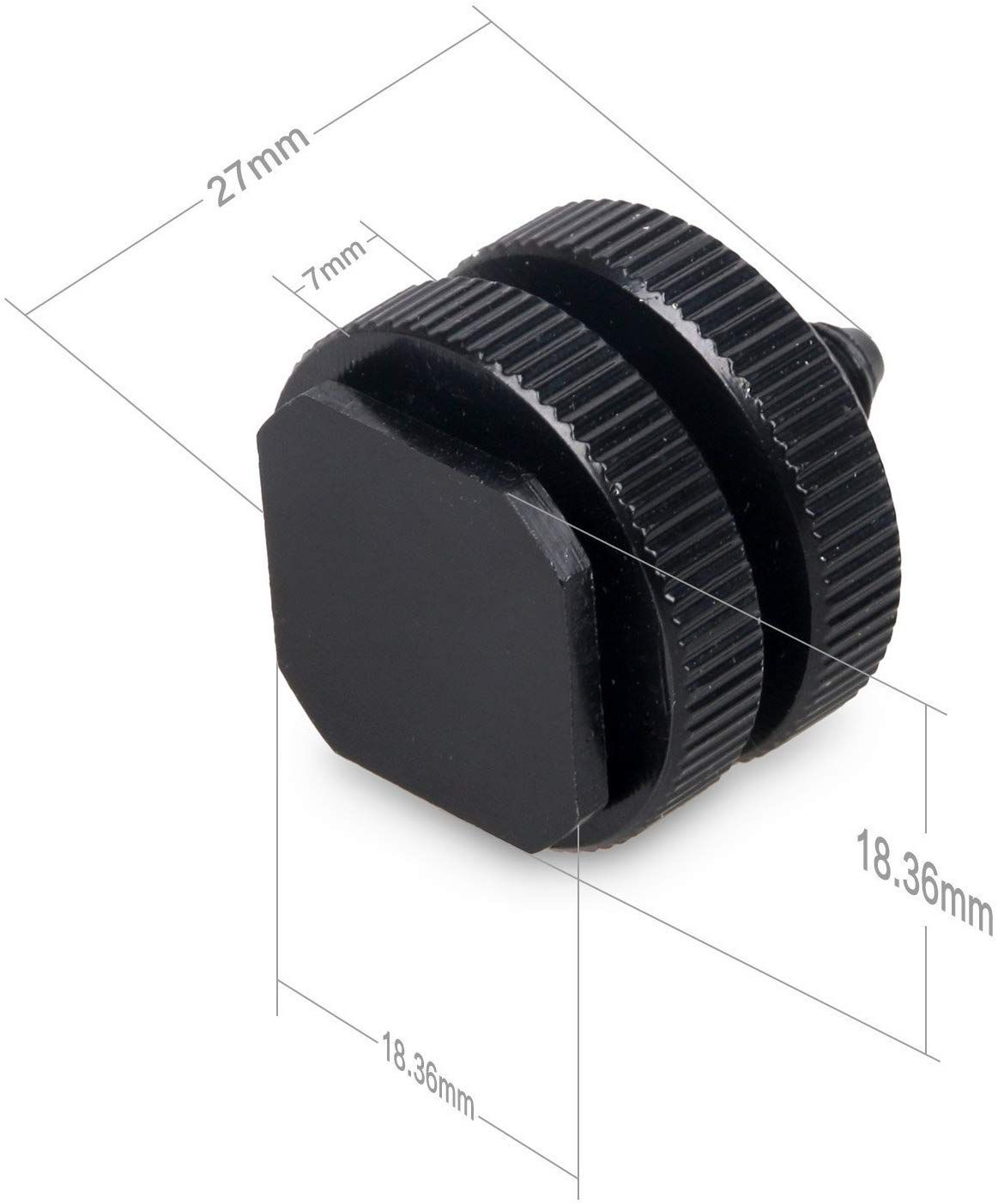 """Hot Shoe Mount Adapter Flash Cold Shoe Mount to 1/4""""-20 Tripod Screw Adapter DSLR Camera Rig-4 Packs"""