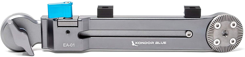 KONDOR BLUE Rosette Extension Arm Adjustable Length ARRI Rosette Shoulder Rig Camera Handgrip Extender RED URSA C500 F5 Alexa BMPCC 4K 6K (Extension Arm)