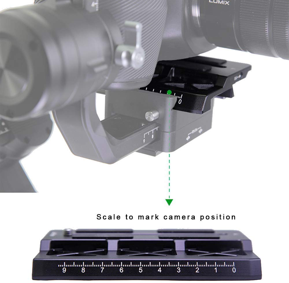 Lanparte Offset Ronin S Camera Plate Compatible with DJI Ronin-S Gimbal