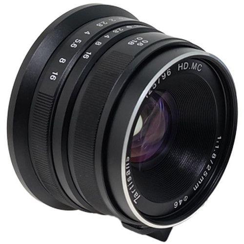 Lente 7artisans Fotoelétrica 25mm f / 1.8 para Micro Quatro Terços (Preto)