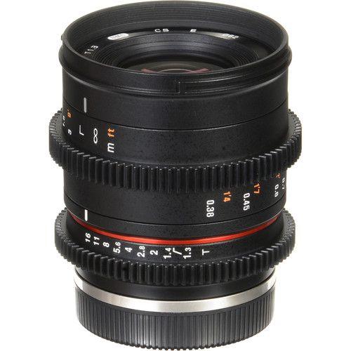 Lente Rokinon 35mm  Cine Compacta de Alta Velocidade T1.3 para Sony E