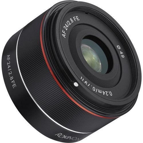Lente Rokinon AF 24mm f/2.8 FE para Sony E