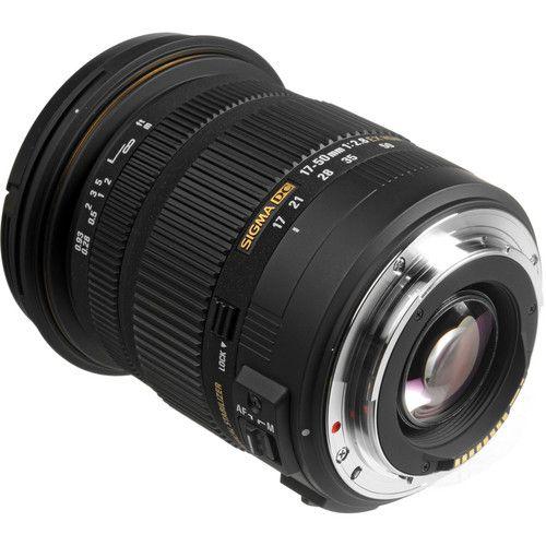 DSLRs Lente Sigma 17-50mm f/2.8 EX DC OS HSM Zoom for CanonPS-C Sensors