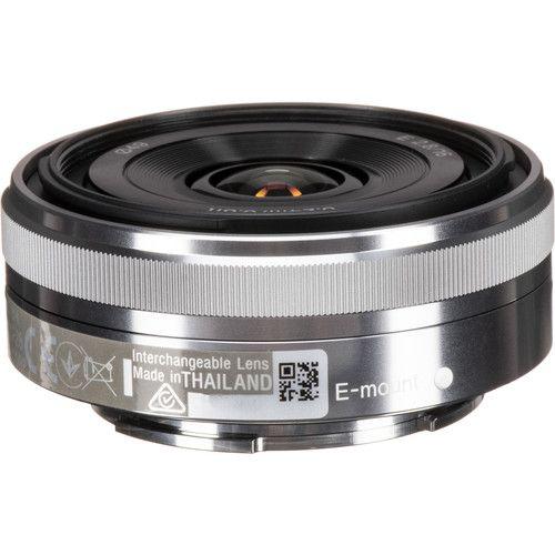 Lente Sony E 16mm f / 2.8 (Prata)