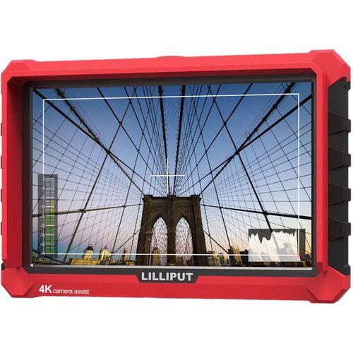 """Lilliput A7S Monitor Full HD de 7 """"com suporte para 4K (capa vermelha)"""