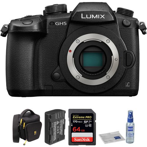 Lumix DC-GH5 Mirrorless Micro Four Thirds Digital Camera with Accessories Kit