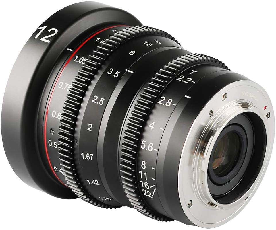 Meike MK-12mm T2.2 Grande Abertura Manual Foco Prime Mini Distorção Lente Cine para Micro Quatro Terços M43 MFT Olympus Panasonic Lumix BMPCC 4K Zcam E2