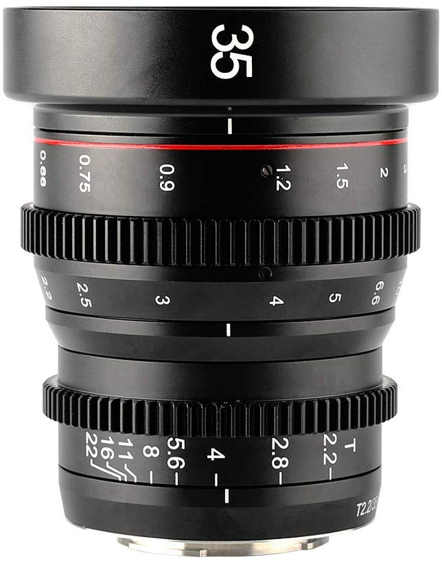 Meike MK-35mm T2.2 Grande Abertura Manual Foco Prime Mini Distorção Lente Cine para Micro Quatro Terços M43 MFT Olympus Panasonic Lumix BMPCC 4K Zcam E2