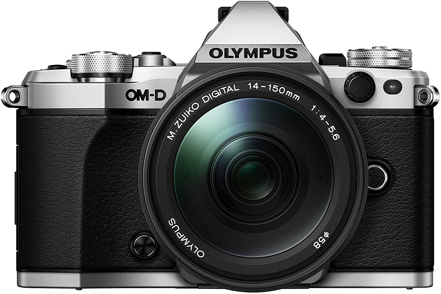 "Olympus OM-D E-M5 Mark II Weather Sealed Kit with 14-150mm Lens, 3"" LCD, Silver, US ONLY"