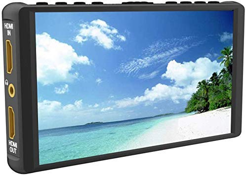 Portkeys P6 Camera Field Monitor 5.5 Inch Full-Fit Screen 3D Lut 1920x1080 IPS Peaking Focus Video Assist 4K HDMI Waveform Heat Dissipation Layout