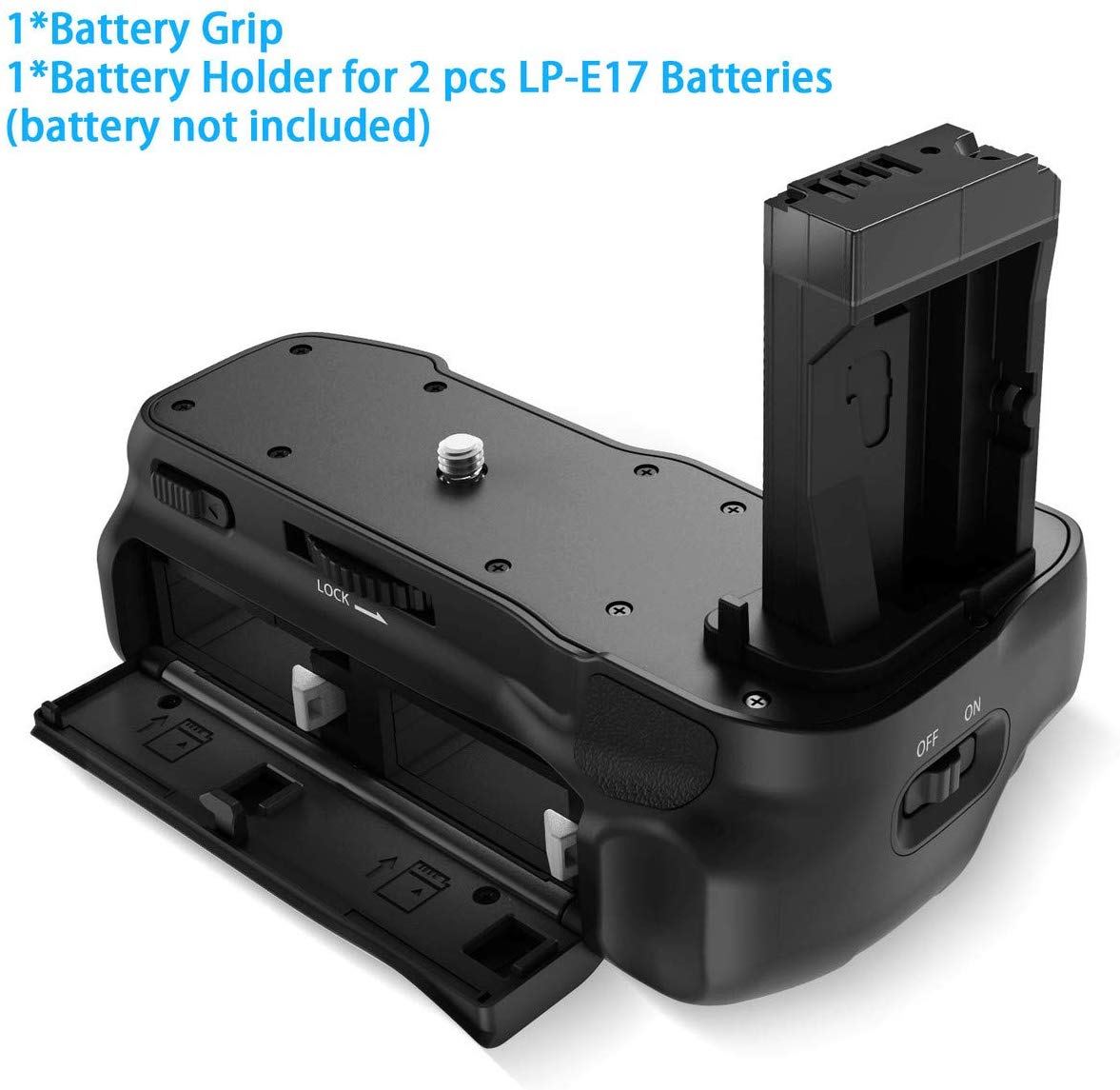 Powerextra EOS-800D Vertical Battery Grip Replacement for Canon Eos 800D/T7i/X9i/77D/9000D DSLR Camera