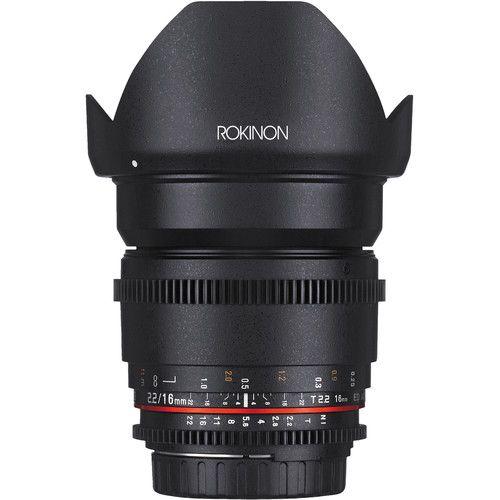 Rokinon Pacote de lente Cine DS de 16, 35, 50, 85mm para Sony E-Mount