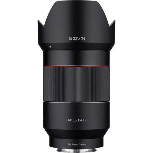 Lente AF Rokinon 35mm f / 1.4 FE para Sony Eony E