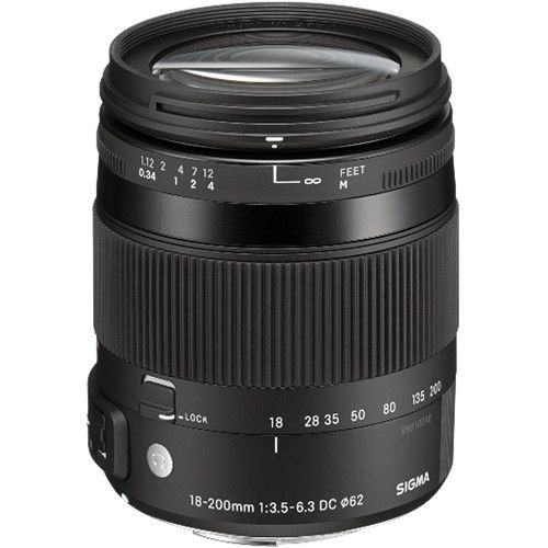 Lente Sigma 18-200mm F3.5-6.3 Contemporary DC Macro OS HSM Lens for Canon