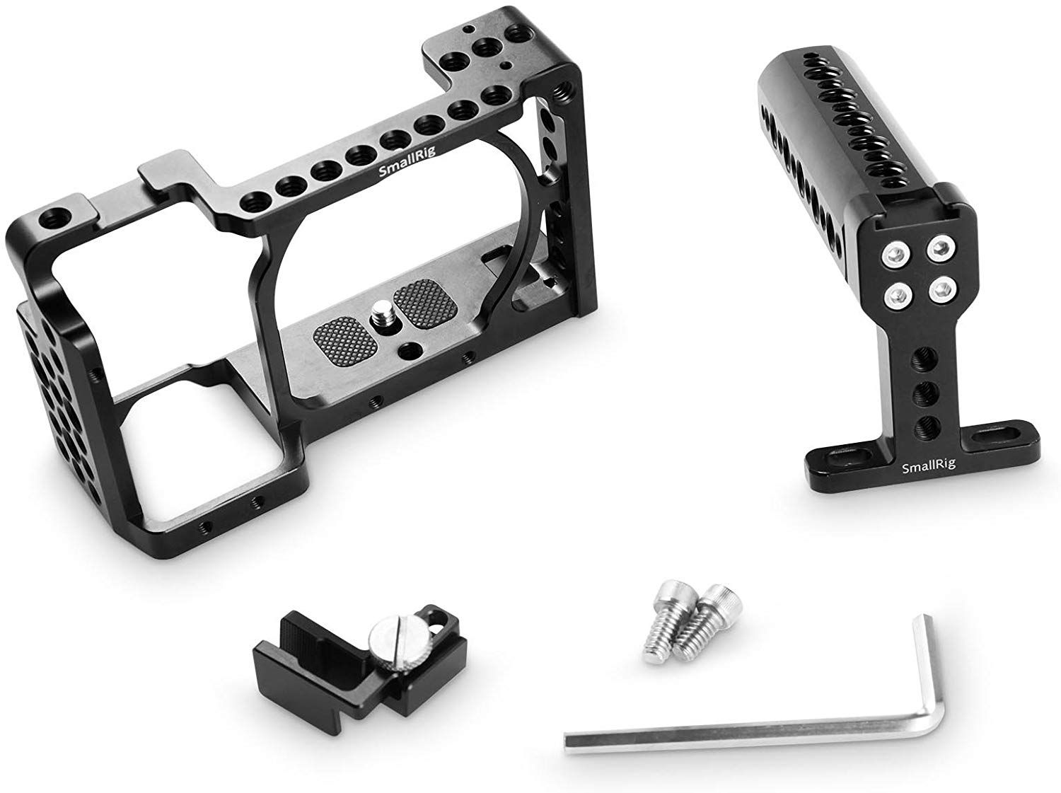 SMALLRIG Cage Kit for Sony A6000 A6300 NEX7 Camera with Cage, Handle, HDMI Clamp - 1921