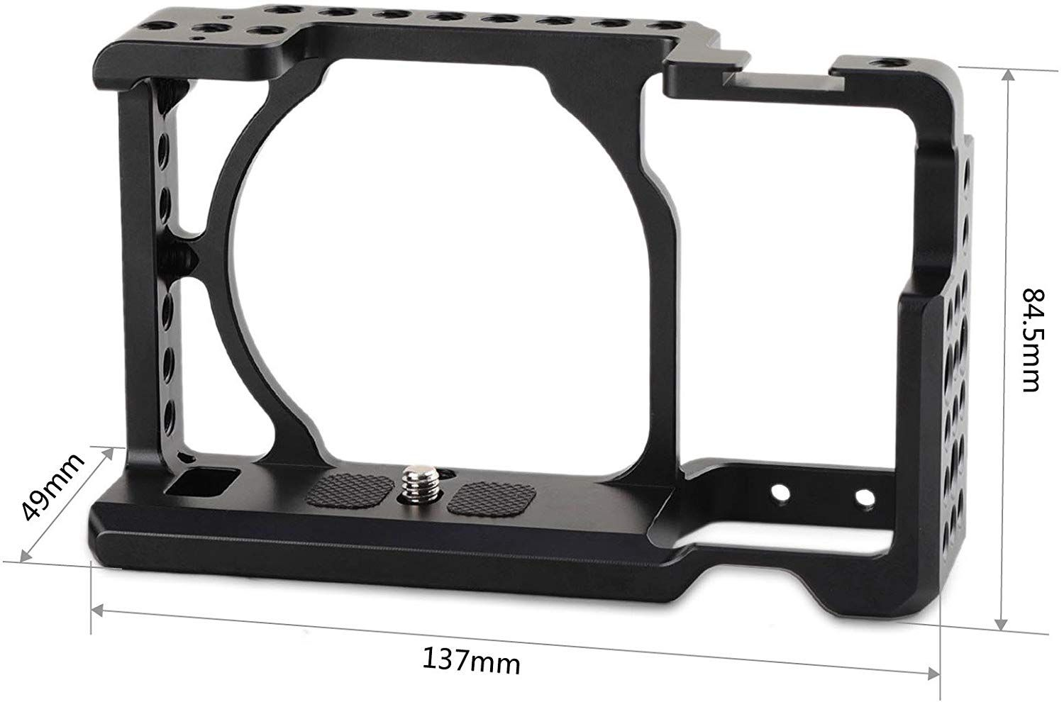 "SMALLRIG Camera Cage for Sony A6000 A6300 ILCE-6000 ILCE-6300 NEX7 with 1/4"" 3/8"" Mounting Points and Built-in Cold Shoe - 1661"