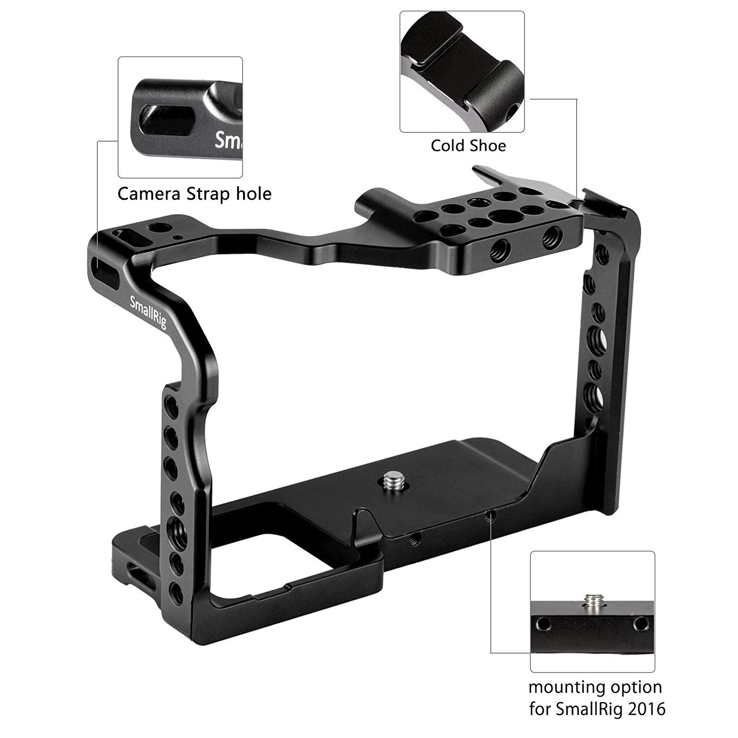 SmallRig GH5/GH5S Cage for Panasonic Lumix Camera & DMW-XLR1 ( Upgraded Version)