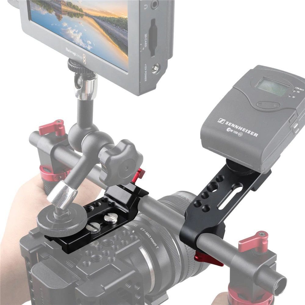 SMALLRIG Mini Mounting Plate with 15mm Rod Clamp 1906