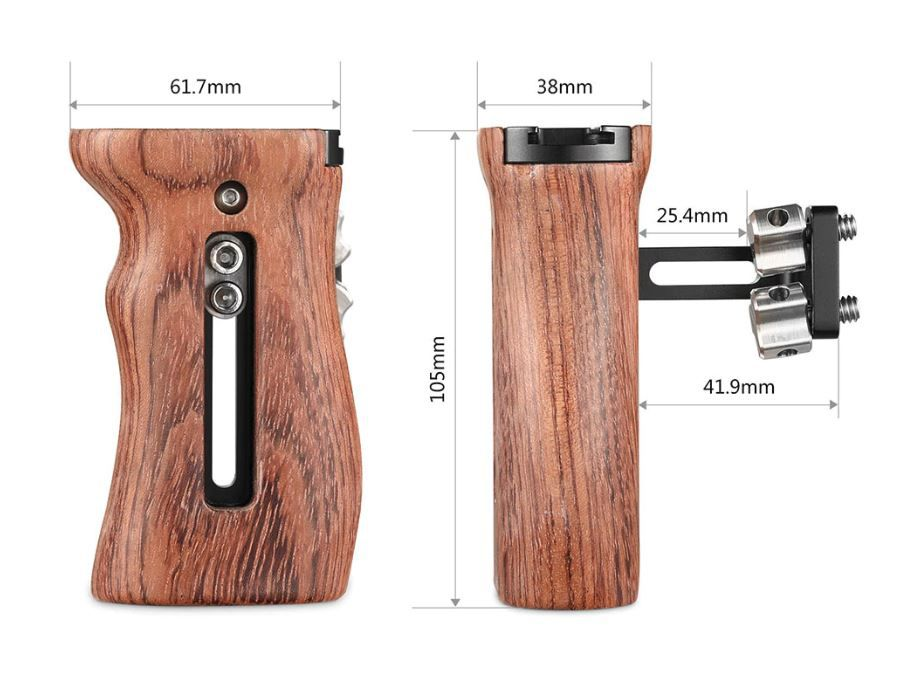 SmallRig Wooden Universal Side Handle-2093