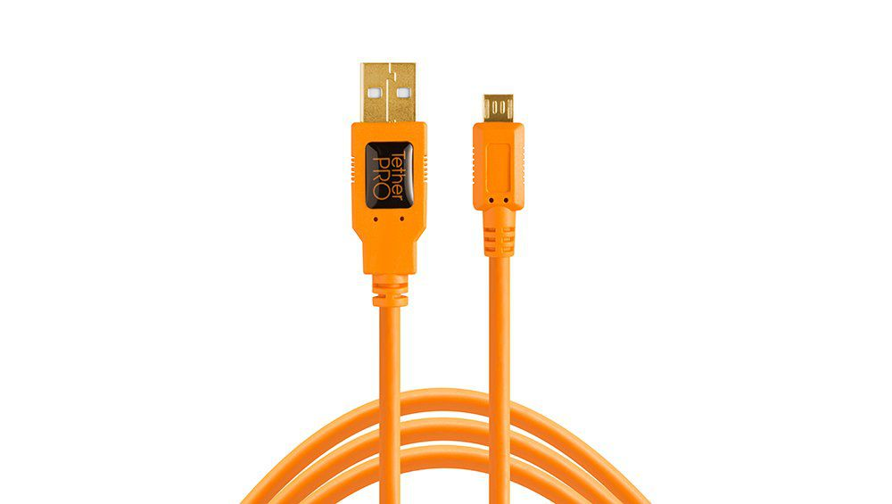 Tether Tools TetherPro USB 2.0 A Male to Micro B 5-pin Orange