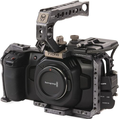 Tilta Camera Cage for Blackmagic Design Pocket Cinema Camera 4K/6K (Basic Kit, Tactical Gray)