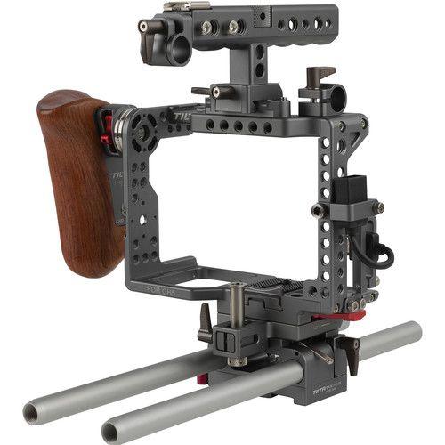 Tilta ES-T37A GH5 Handheld Camera Cage Rig with Wooden Handgrip