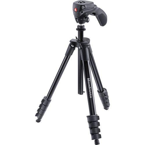 Tripé Universal Manfrotto Compact Action Black Foto Ou Vídeo