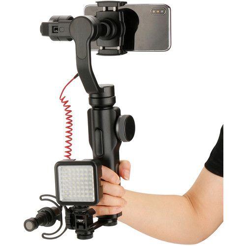 Ulanzi PT-3 Conversor Adaptador de Montagem de Sapata Tripla 3 em 1 BY-MM1 Suporte para microfone Suporte de luz de vídeo LED para Zhiyun Smooth 4 / Smooth Q para DJI OSMO mobile 2 para Moza Mini-MII