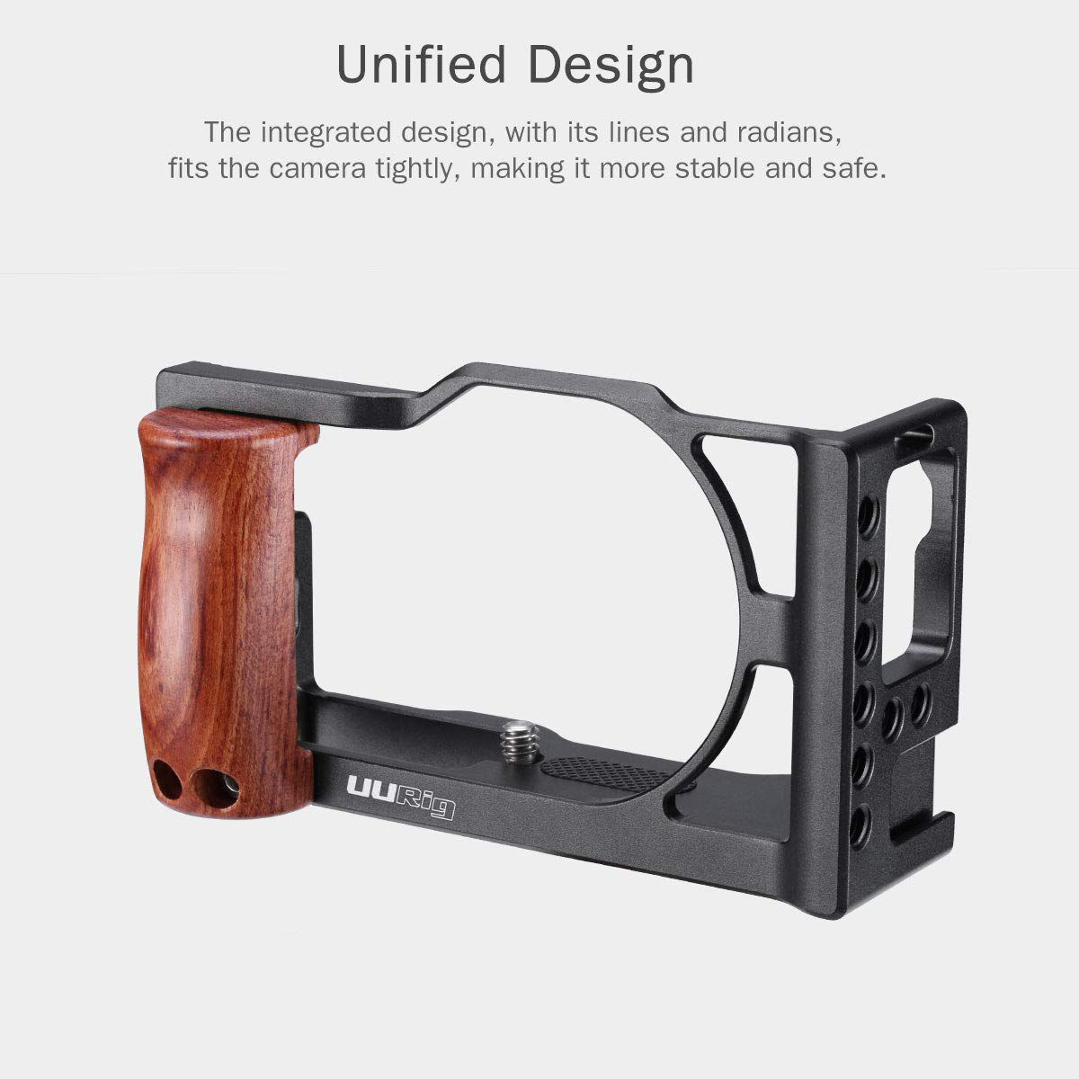 UURig C-G7X Mark III Metal Cage for Canon G7X Mark III VLog Camera