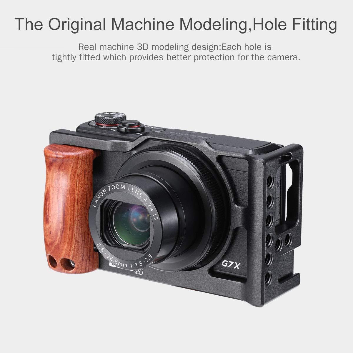 UURig C-G7X Mark III Metal Cage for Canon G7X Mark III VLog Camera