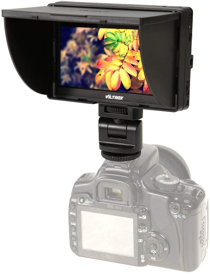 Viltrox DC-50 Clip-on Portable 5' LCD Monitor with HDMI Video Input with Standard & Sony Shoes