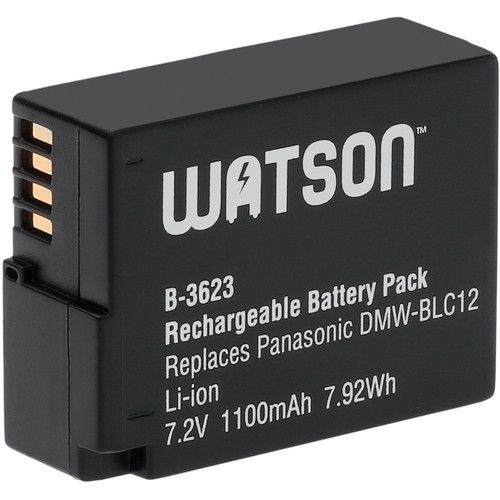 Watson DMW-BLC12 Lithium-Ion Battery Pack (7.2V, 1100mAh)