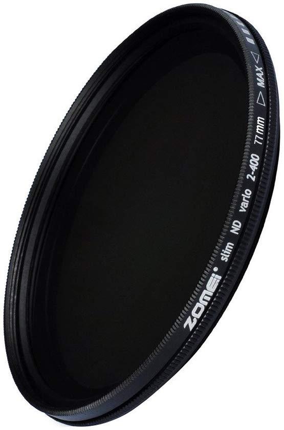 ZOMEi 77mm Ultra Slim ND2-ND400 Fader Filtro de Lente Ajustável de Densidade Neutra Variável Filtro Ultra Slim ND Vidro Óptico
