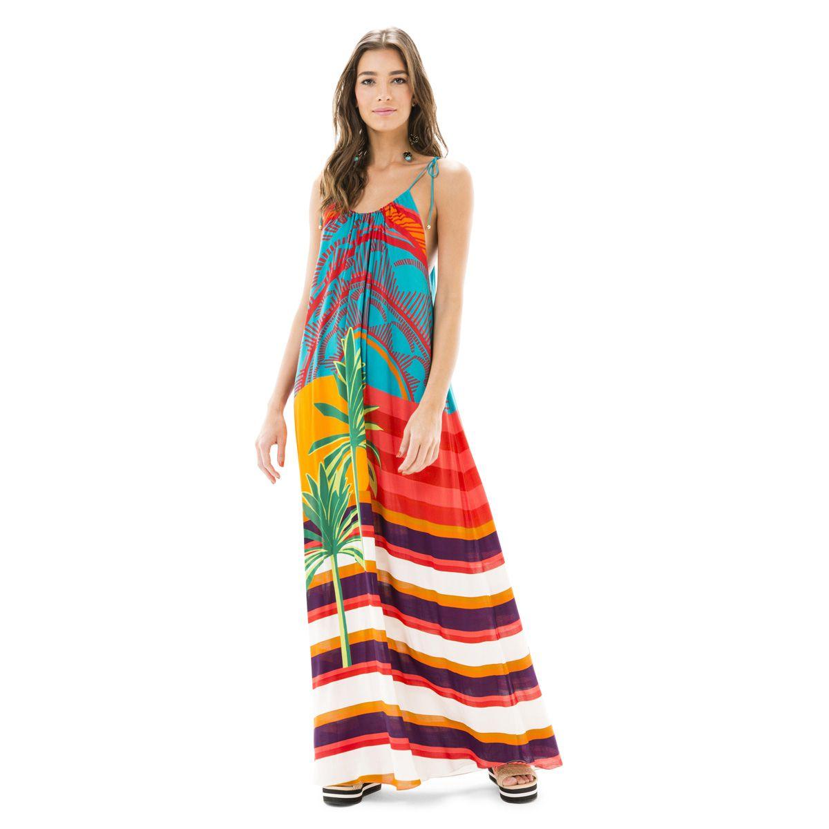 6eec659679 Vestido Longo Estampado Sunshine Salinas na Biellíssima
