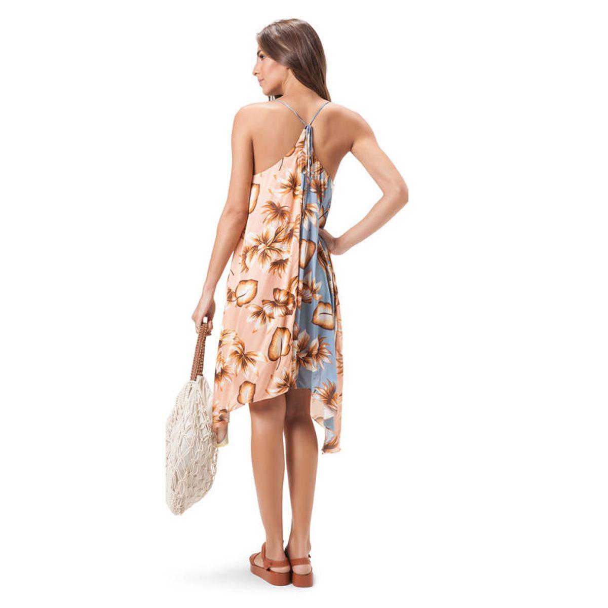 Vestido Midi Salinas Estampa Spring