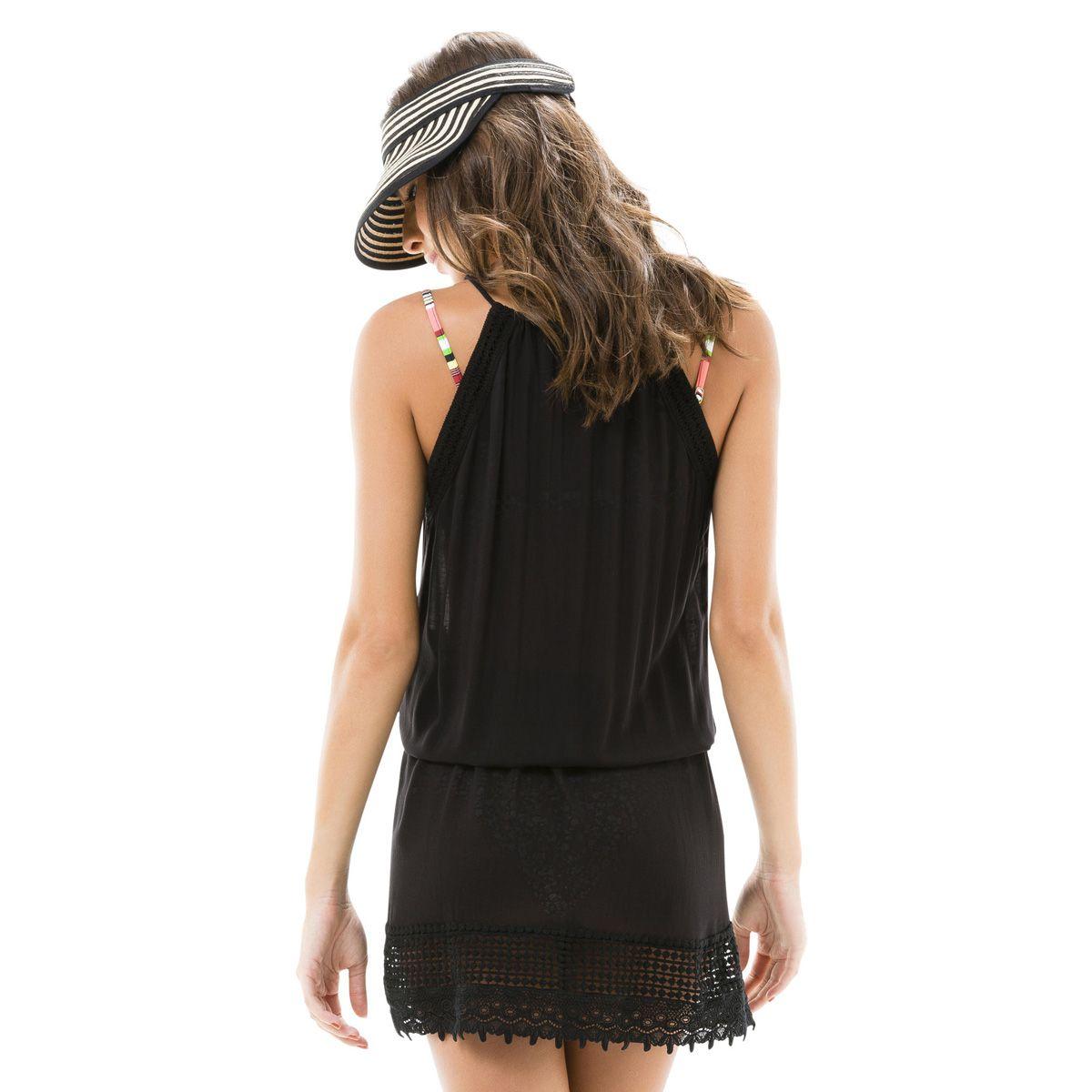 Vestido Viscose Cava Renda Salinas
