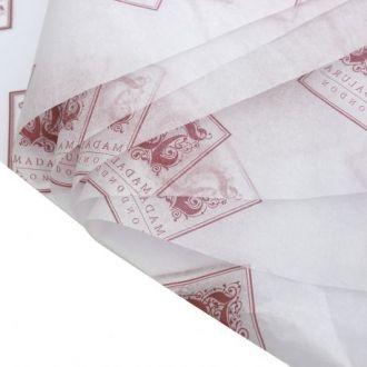 Kit com 5 folhas  de Papel de Seda Personalizado  20g/m - Tamanho 50x70 - impressão em 1 cor - Linha paper  1201