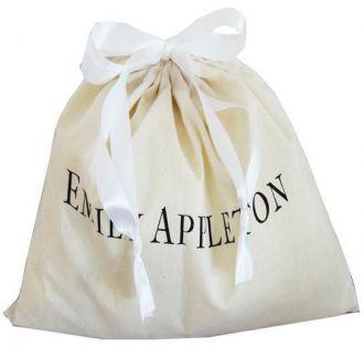 Saquinho de algodão  personalizado para bolsa - 40x60 -  impressão da logomarca em serigrafia - Linha Classic  7180