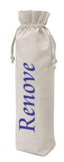 Saquinho de algodão para garrafa personalizado 18x35 - impressão em serigrafia - Linha Classic 7232