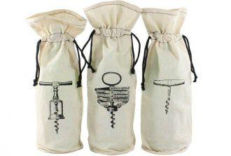 Saquinho de algodão para garrafa personalizado 18x40 - impressão em serigrafia - Linha Classic 7235