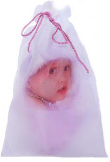 Saquinho de cetim personalizado para chinelo infantil - 20x30 - impressão digital Colorida -  Linha Classic 7291
