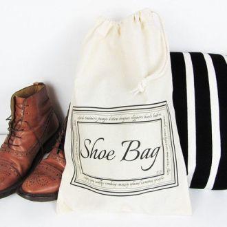 Saquinho de oxford para sapato 30x40 - impressão em serigrafia -  Linha Classic  7430