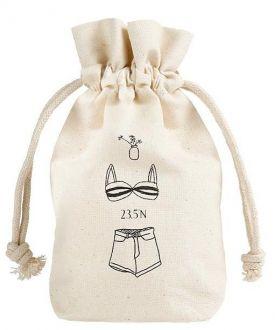 Embalagem de algodão personalizado 15x20 - impressão em serigrafia - Linha Classic 1128